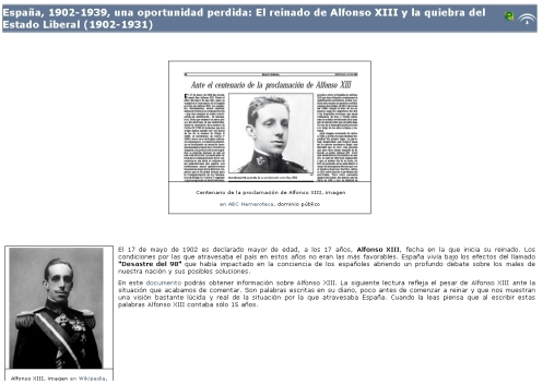 Libro digital sobre el reinado de Alfonso XIII y la dictadura de Primo de Rivera