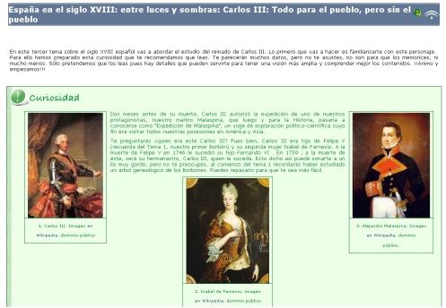Libro digital sobre el despotismo ilustrado y el reinado de Carlos III