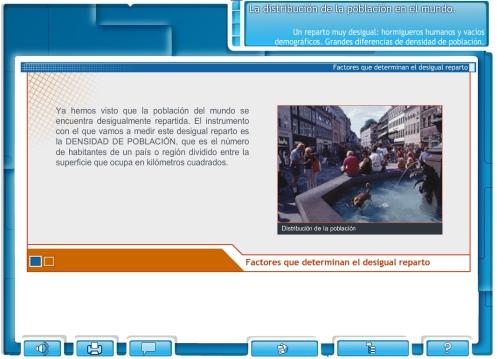 Libro digital sobre la distribución de la población mundial