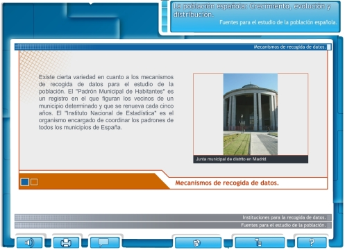 Libro digital sobre la población española
