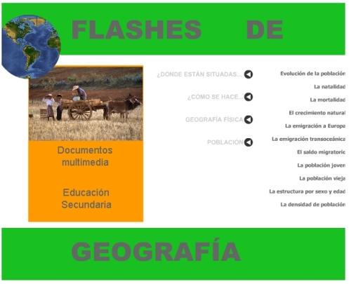 Aplicación en Flash con diversos recursos de Geografía