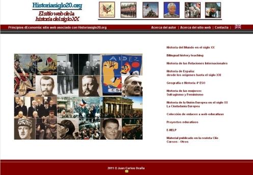 Página web con gran cantidad de recursos útiles para las materias que abordan contenidos de Historia Contemporánea