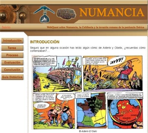 Webquest sobre Numancia y los pueblos celtíberos