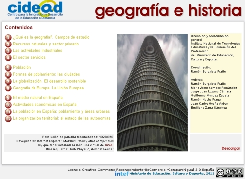 Unidades didácticas Geografía Proyecto ed@d