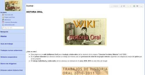 Wiki sobre Historia Oral