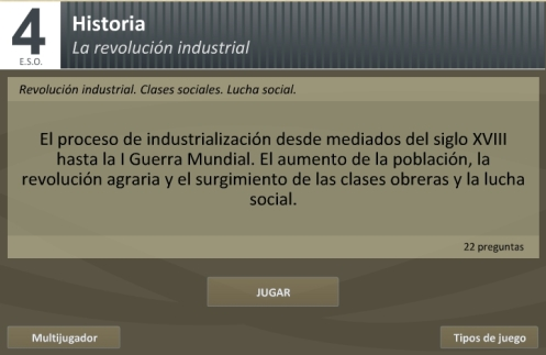 Test sobre la Revolución Industrial