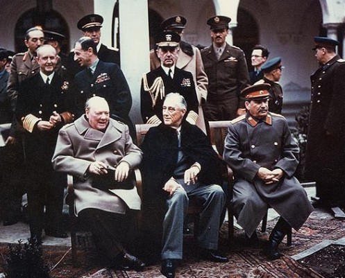 http://commons.wikimedia.org/wiki/File:Yalta_summit_1945_with_Churchill,_Roosevelt,_Stalin.jpg// PD