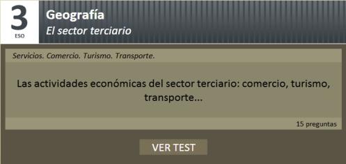 Test sobre el sector terciario