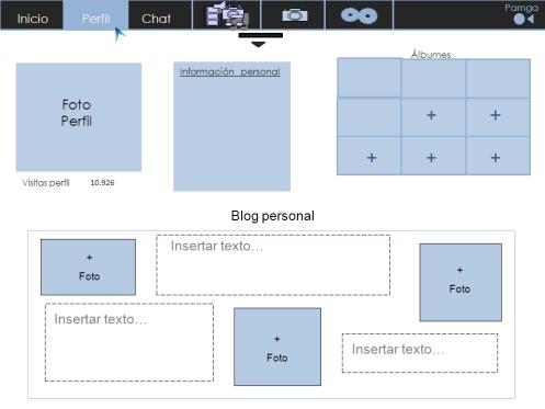 Página de perfil de la red social Pamga (1)