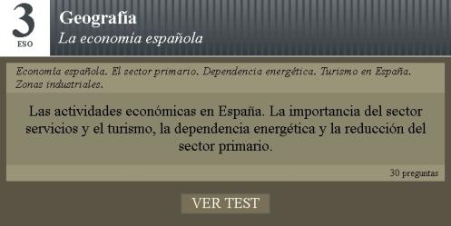 Test economía española