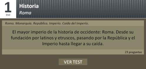 Test sobre Roma