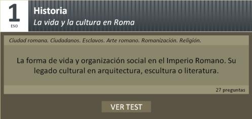 Test sobre vida y cultura romana