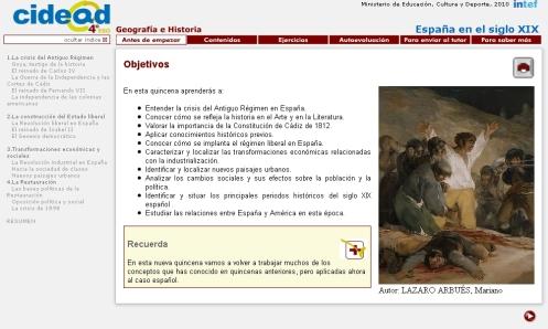 Libro digital España del siglo XIX