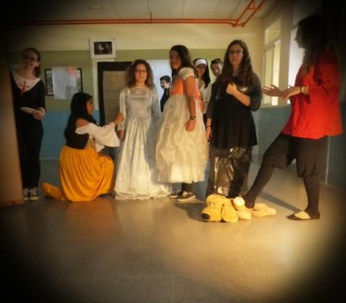Recreación escolar de Las Meninas de Velázquez