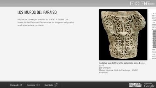 """Enlace a la exposición virtual """"Los muros del paraíso"""""""