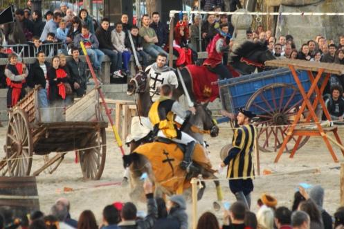 Justa medieval en Bayona